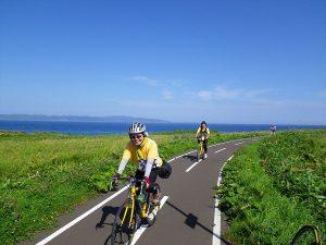 利尻島 サイクリストが多数来島中!