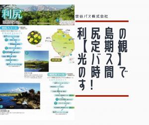 利尻島【5月1日よりスタート 宗谷バス利尻島定期観光バス】